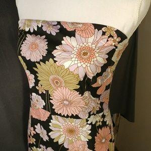 Peep Studio Strapless Cotton Dress